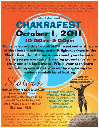2nd Annual ChakraFest Saturday October 1 2011