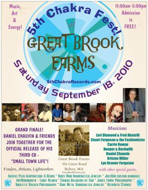 5th ChakraFest at Great Brook Farms  Saturday September 18 2010